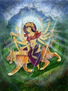 Durga by Pamela Matthews: Visionary Art