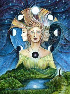The-Triple-Goddess: Pamela Matthews: Grail Graphics - Visionary Surrealism, Spiritual Art, Symbolism, Archetypes
