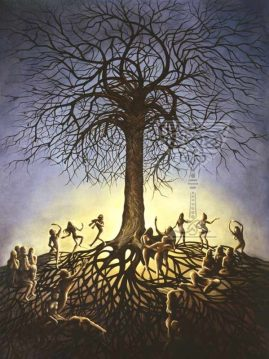 Tree-of-Life: Pamela Matthews: Grail Graphics - Visionary Surrealism, Spiritual Art, Symbolism, Archetypes