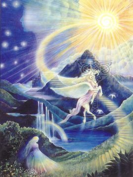 Unicorn-ascending: Pamela Matthews: Grail Graphics - Visionary Surrealism, Spiritual Art, Symbolism, Archetypes