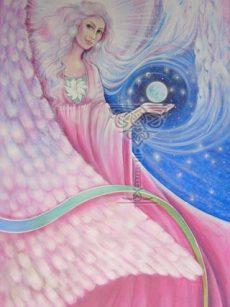 Angel At My Window: Pamela Matthews: Grail Graphics - Visionary Surrealism, Spiritual Art, Symbolism, Archetypes
