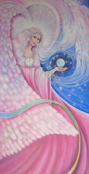 Angel At My Window: Pamela Matthews: Grail Graphics - Visionary Surrealism, Spiritual Art, Symbolism, Archetypes