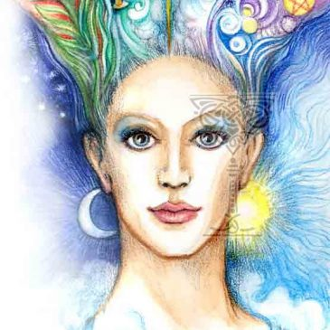 Healing Initiation by Pamela Matthews: Visionary Art