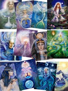 Prints-A4-Grail-Collection: Pamela Matthews: Grail Graphics - Visionary Surrealism, Spiritual Art, Symbolism, Archetypes