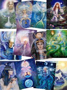 Prints-A4-Grail-Collection: Pamela Matthews: Grail Graphics - Visionary Surrealism, Spiritual Art, Symbolism, Archetypes