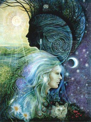 Reflections poster: Pamela Matthews: Grail Graphics - Visionary Surrealism, Spiritual Art, Symbolism, Archetypes