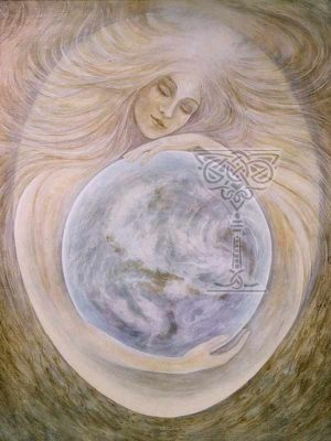 Sophia Peace-through-Wisdom: Pamela Matthews: Grail Graphics - Visionary Surrealism, Spiritual Art, Symbolism, Archetypes