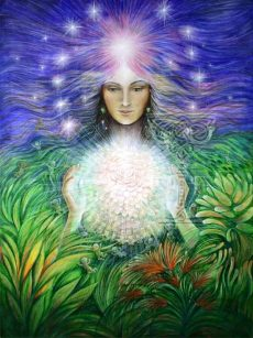 Spirit-of-Motherhood poster: Pamela Matthews: Grail Graphics - Visionary Surrealism, Spiritual Art, Symbolism, Archetypes