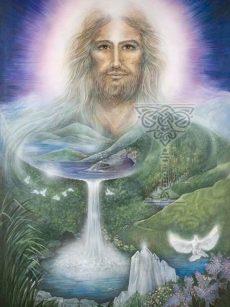 The Living Christ: Pamela Matthews: Grail Graphics - Visionary Surrealism, Spiritual Art, Symbolism, Archetypes