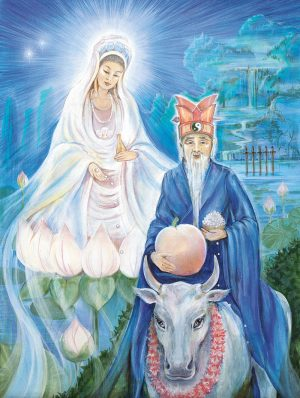 Pamela Matthews - Grail Graphics - Lao Tsu and Kwan Yin